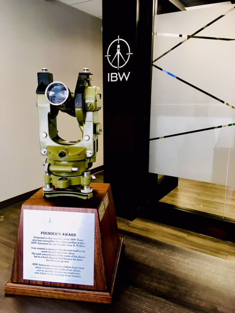IBW Surveyors 2018 Founders' Award